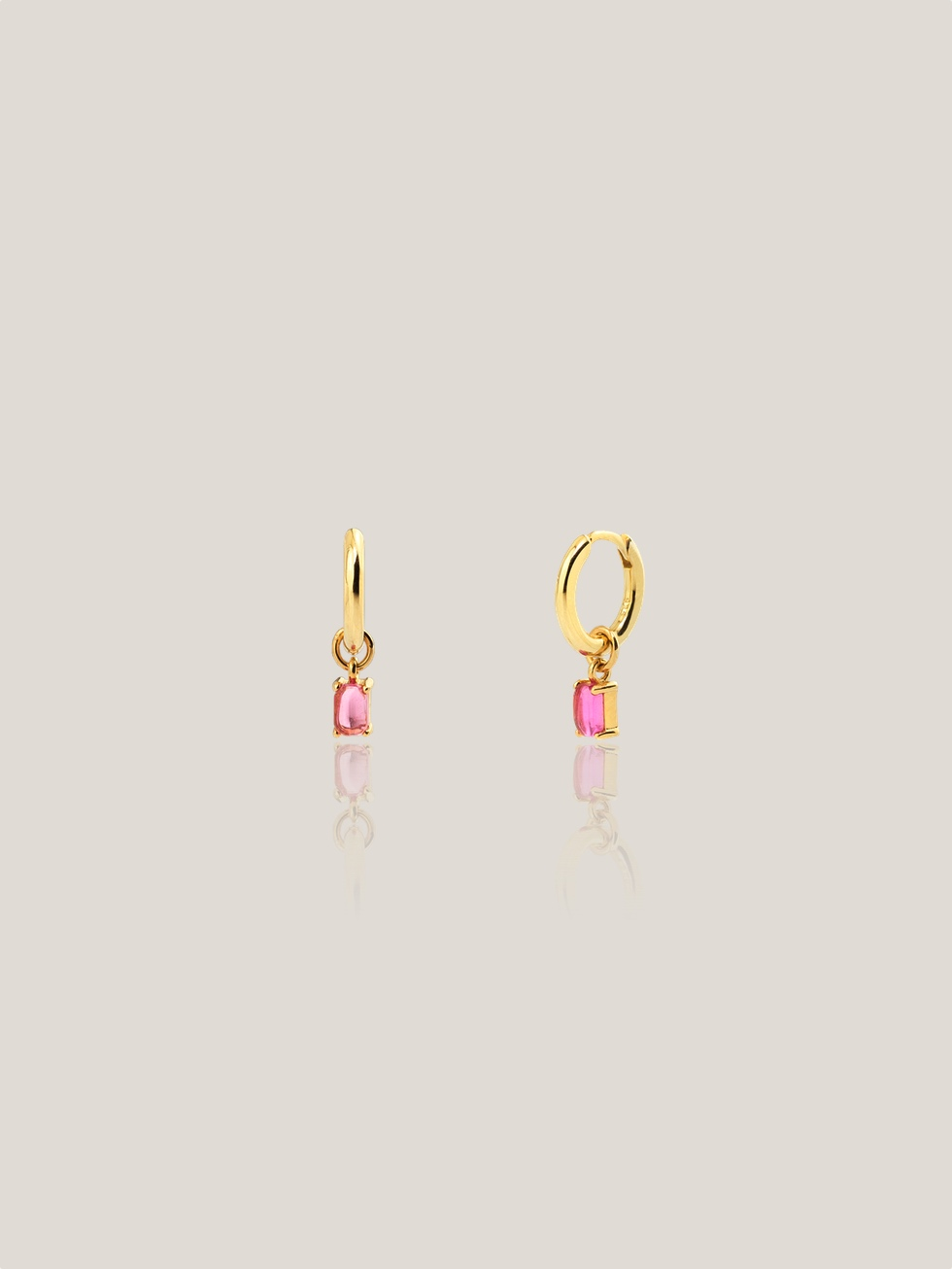 PINK LILY gold hoops earrings