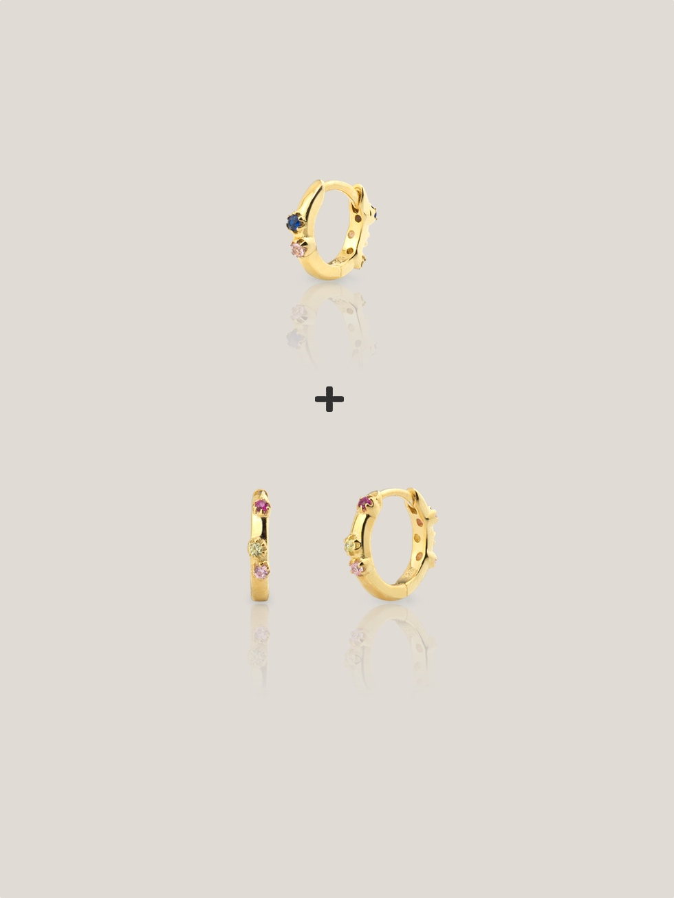 KIT MINI AQUAREL gold hoops