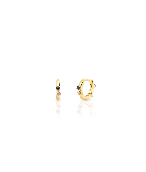 XS mini aquarel gold hoops earrings