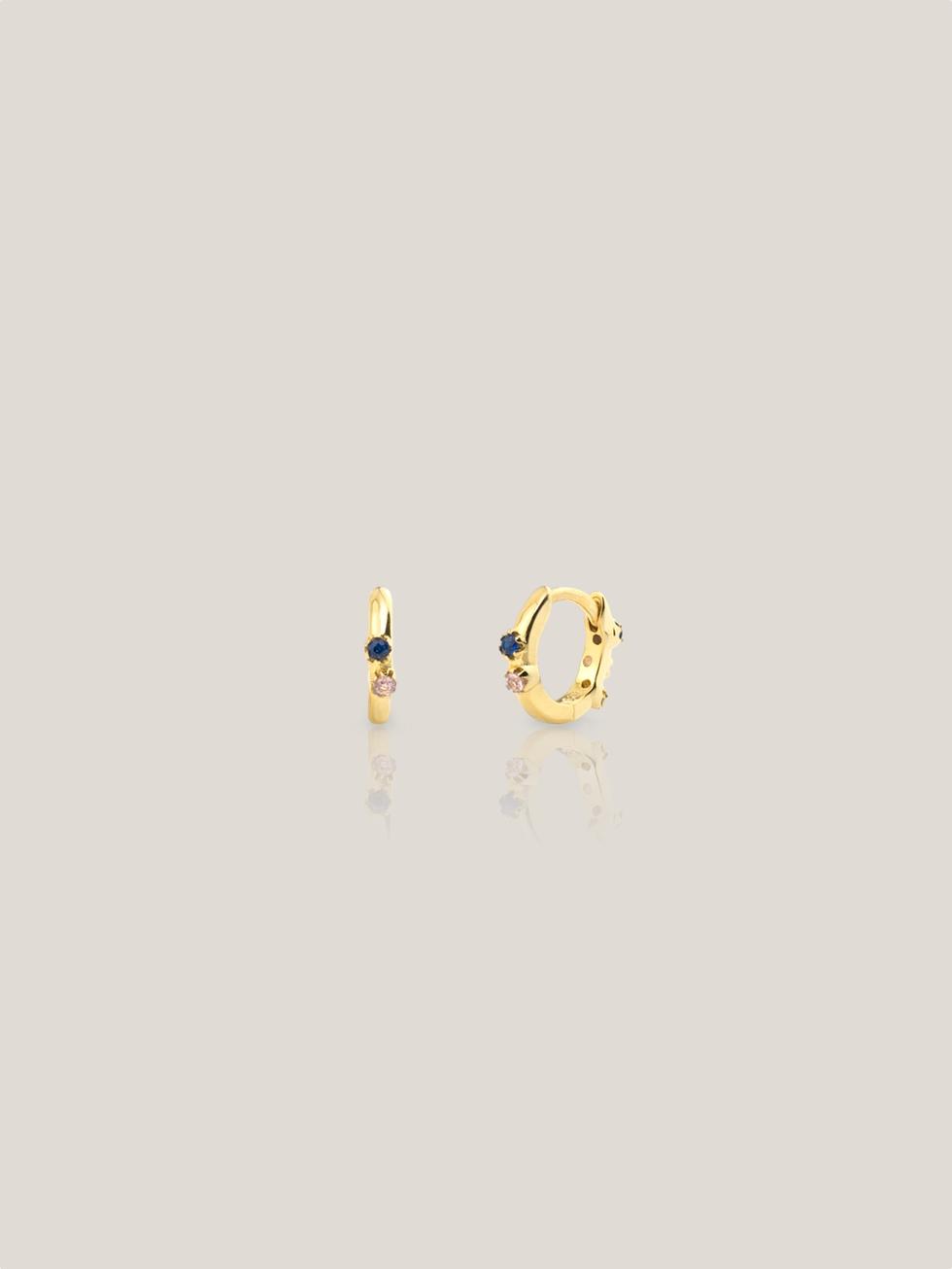 Pendientes xs mini aquarel oro2