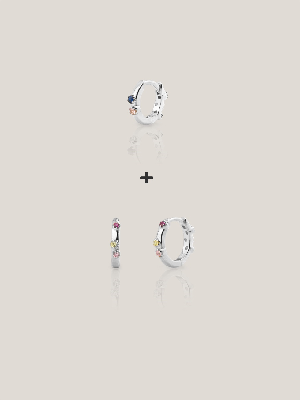 Pendientes mini kit aquarel silver2