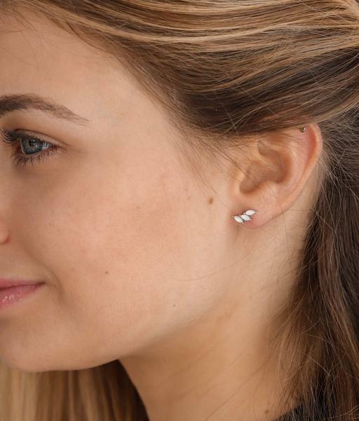 Boucles d'oreilles MINI ICE argent