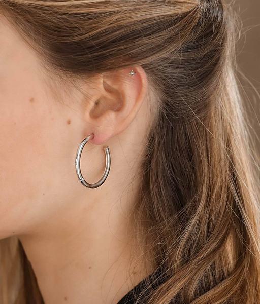 Boucles d'oreilles SATURN argent