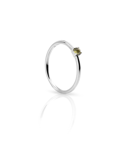 OLIVE GRAPS silver ring