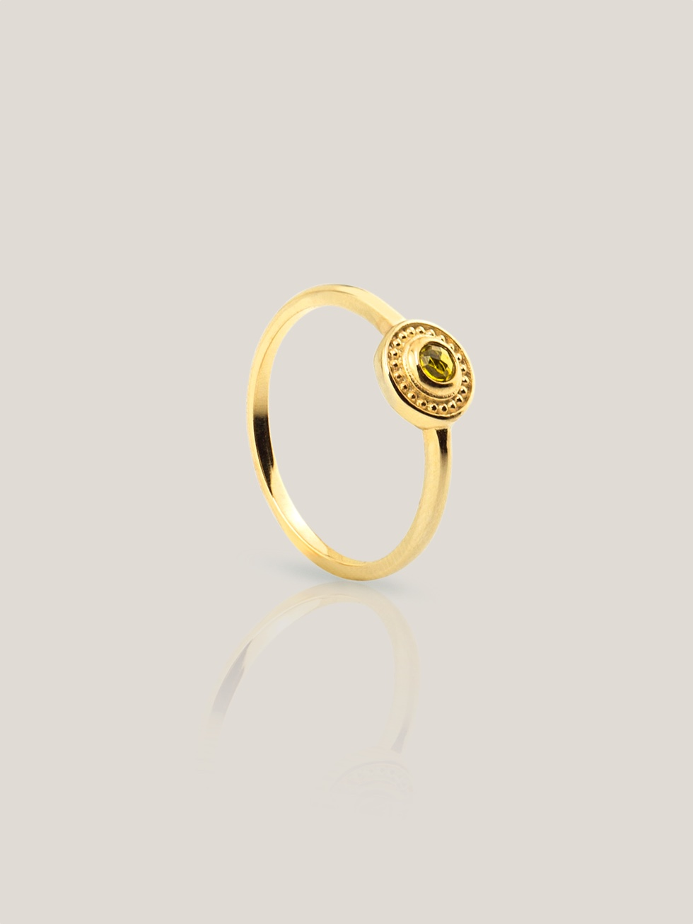 CONCENTRIC gold ring