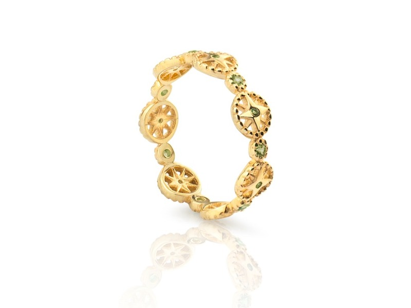 WHEELS gold ring