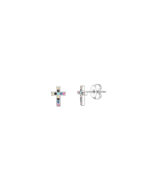 CRUZ MULTICOLORS silver earrings
