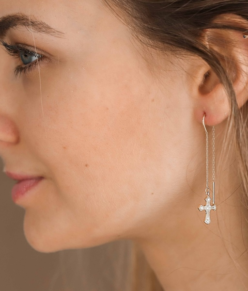Pendientes THE CROSS oro