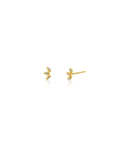 PETALS gold earrings