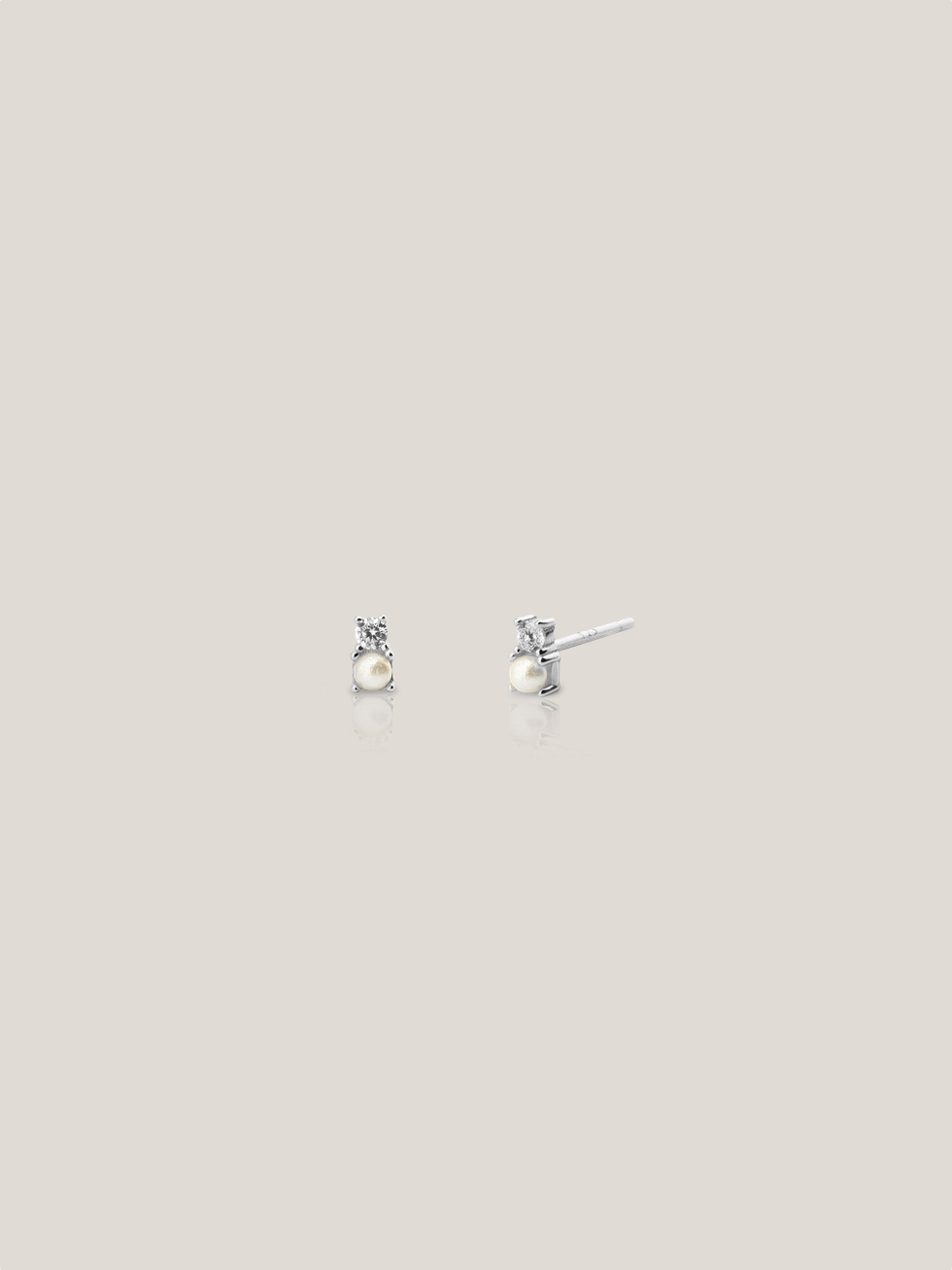 PERLITA silver earrings