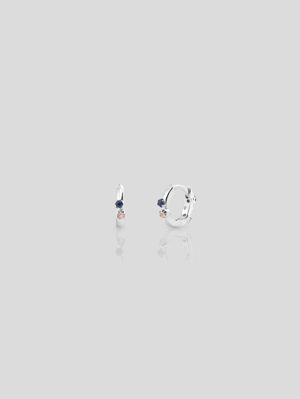 Pendientes xs mini aquarel silver2