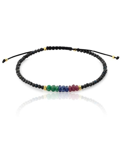 Esmeralda Rubi Zafiro gold bracelet