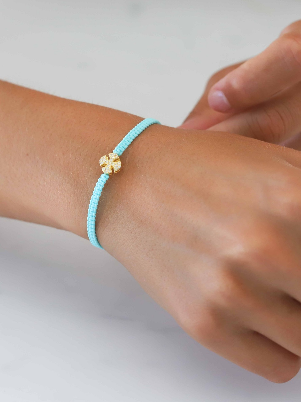 Pulsera summer cross oro2