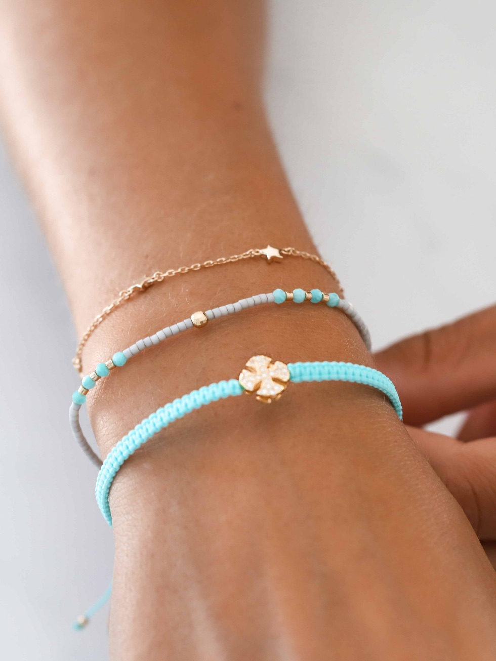Pulsera summer cross oro4