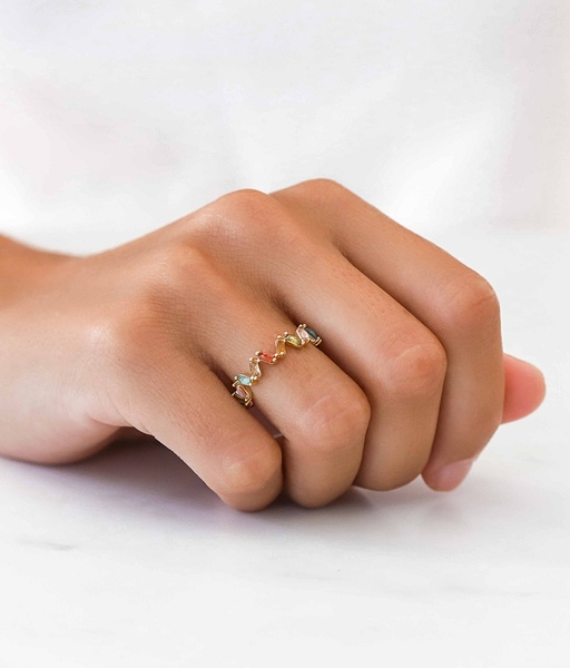 BIRD gold ring