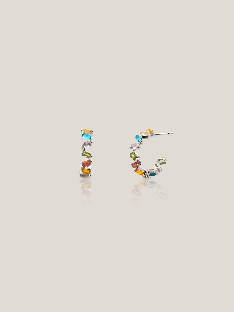 BIRD silver earrings