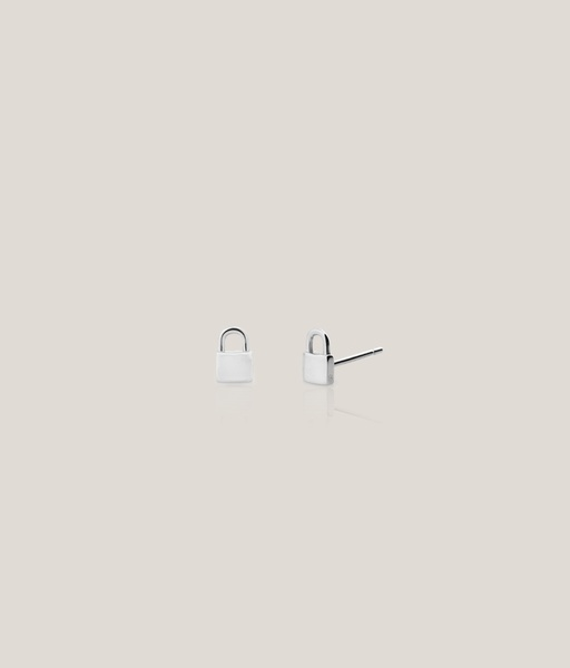 Boucles d'oreilles PIN PADLOCK argent