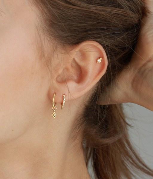 ROMBO TWIST gold hoop earrings