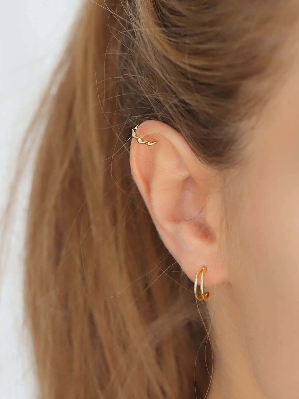 Pendientes twisted ear cuff2 gold mod