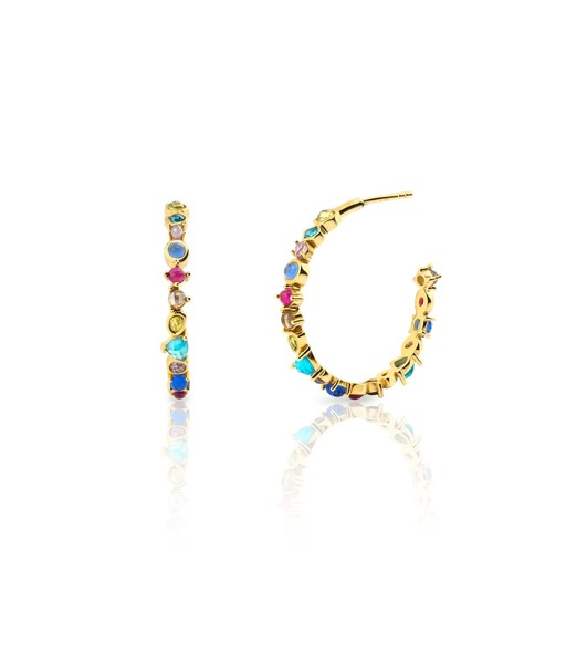 CHEERFUL gold hoop earrings