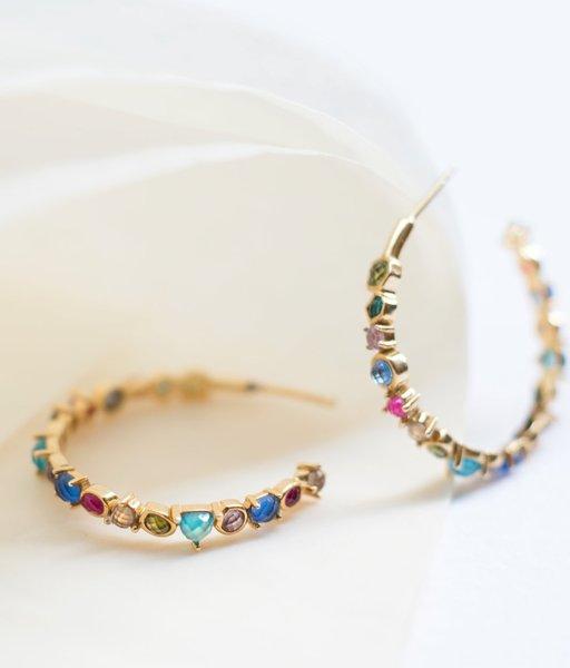 CHEERFUL gold hoop earrings