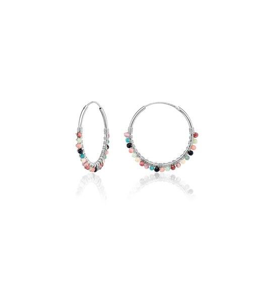 BRUNI silver hoop earrings