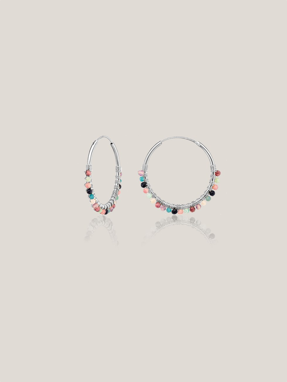 BRUNI silver hoop earrings