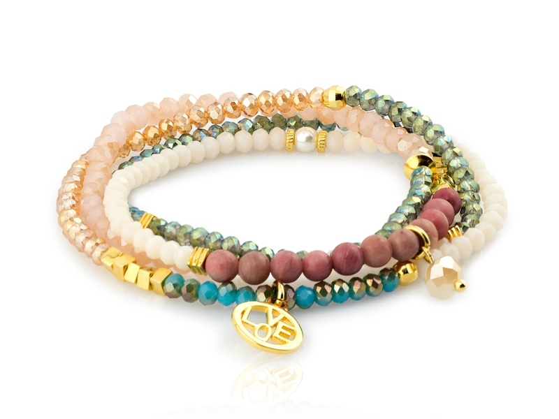 Pulsera BEADED oro