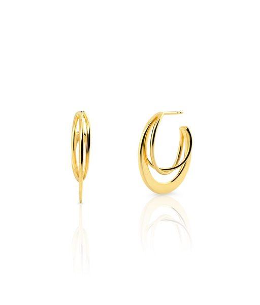 KENYA gold hoop earrings