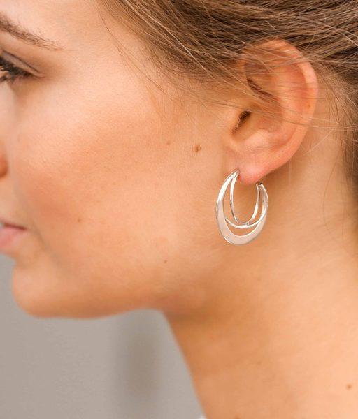 KENYA gold hoop triple earrings