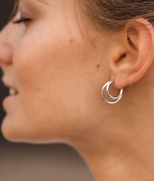 STREET silver hoop earrings