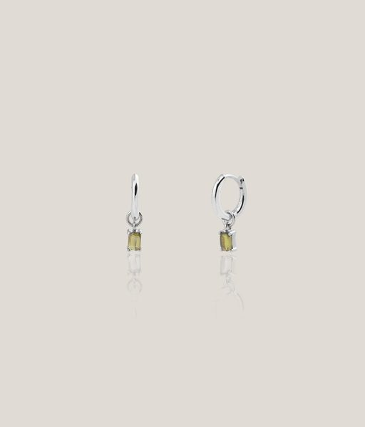 Pendientes LILY GREEN plata