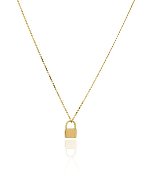 Padlock Necklace Gold