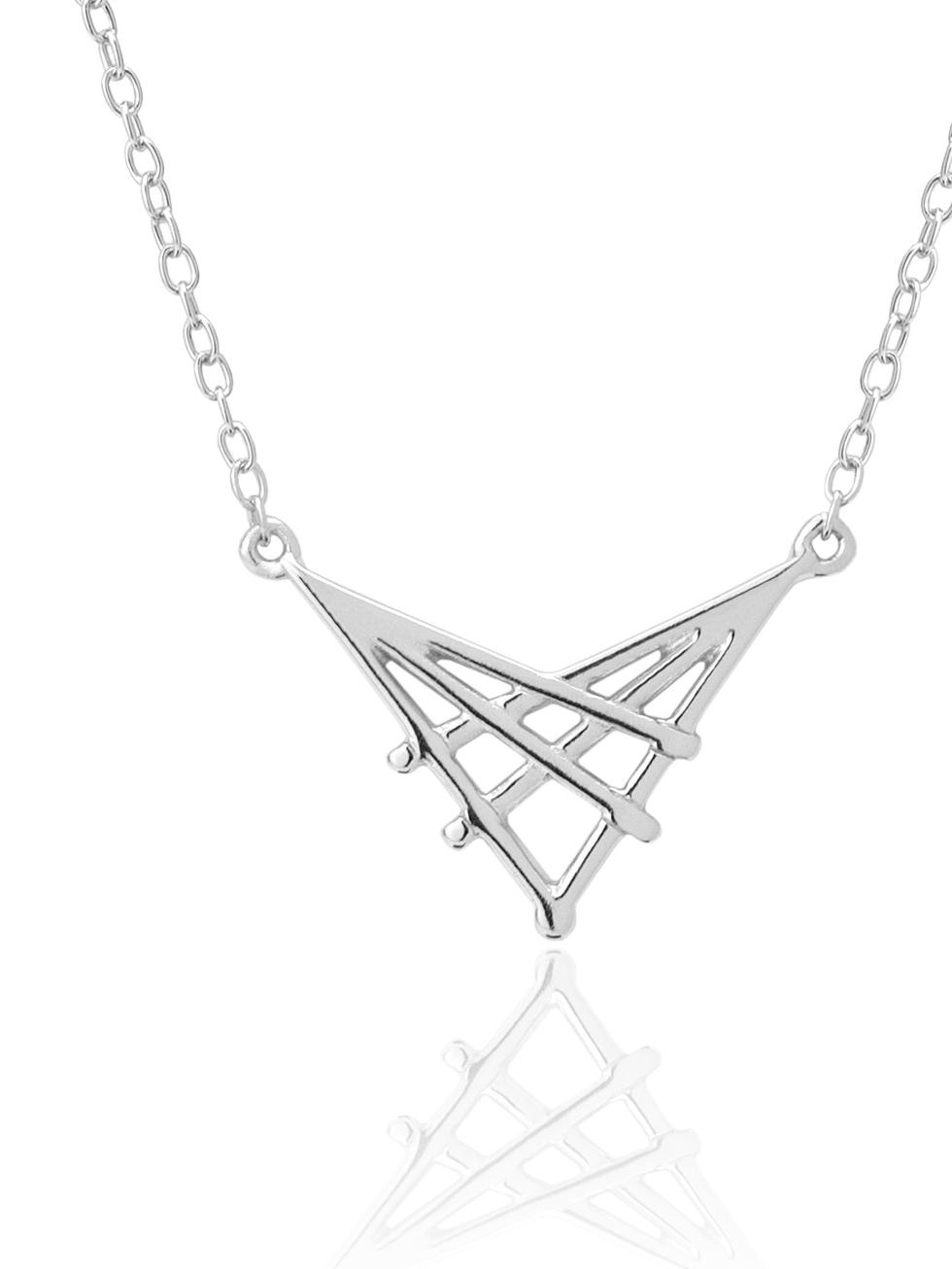 Collar crossed silver