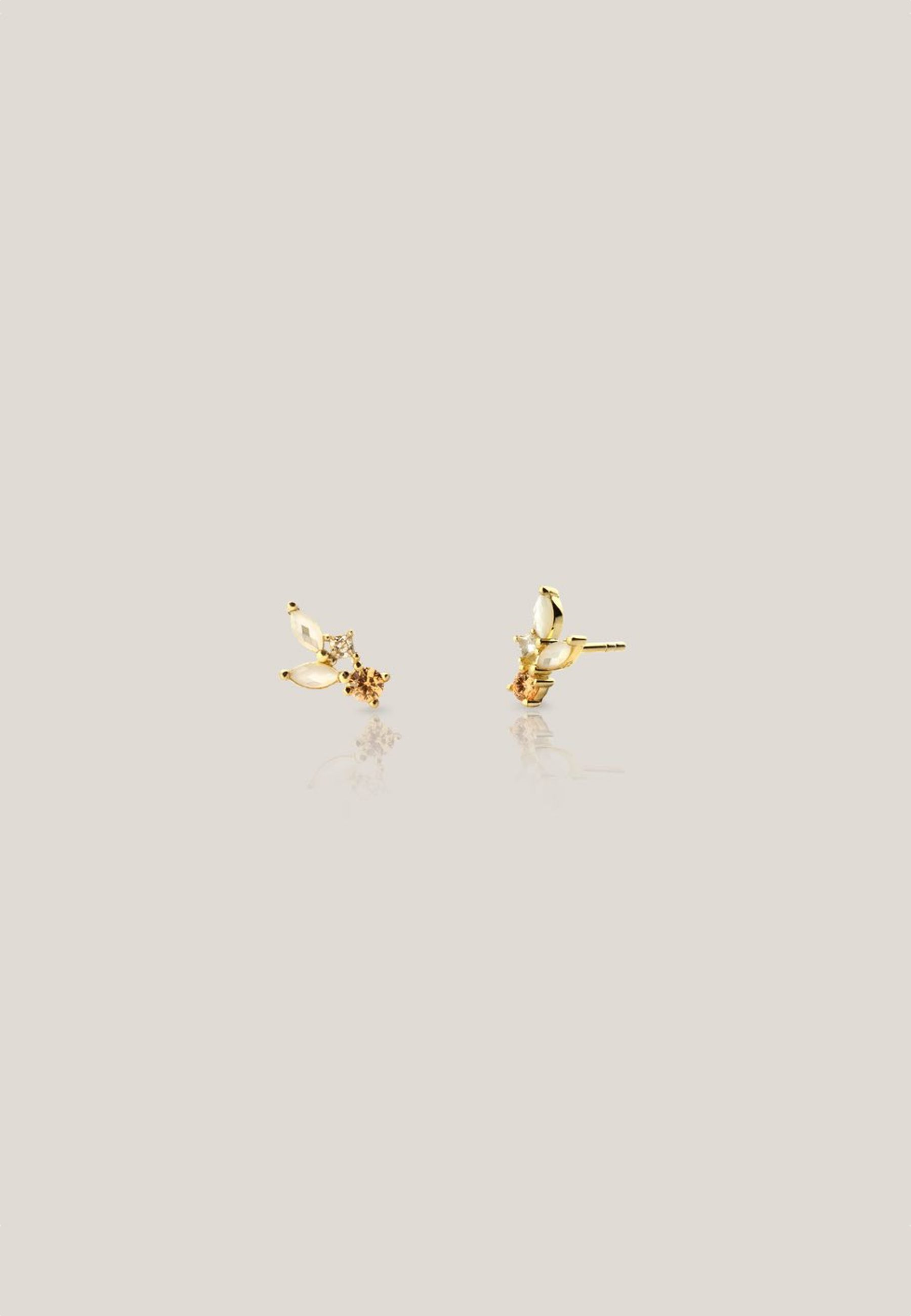 CLOUD gold earrings