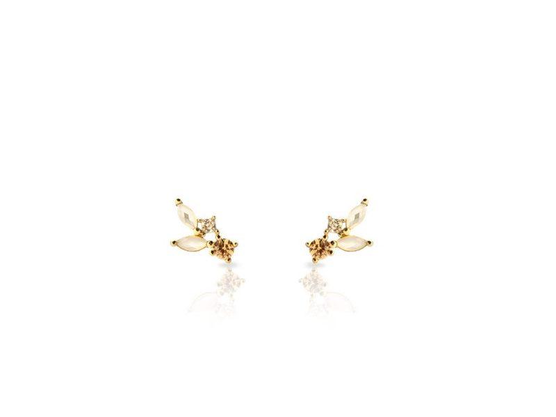 CLOUD gold earrings