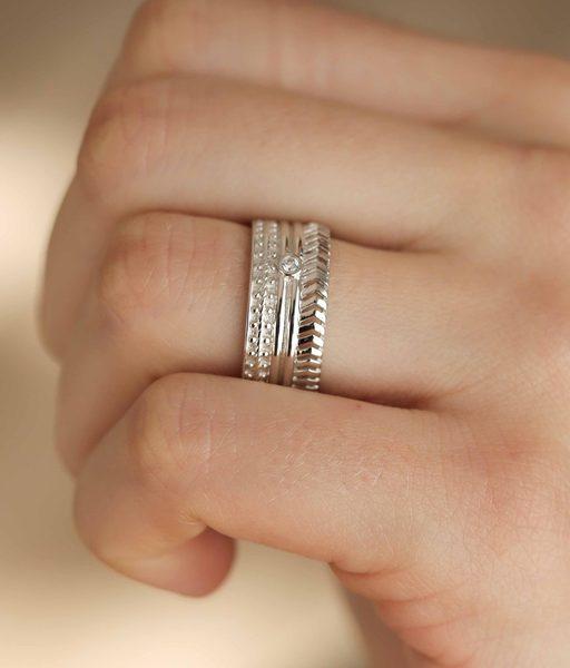 BAROQUE silver ring