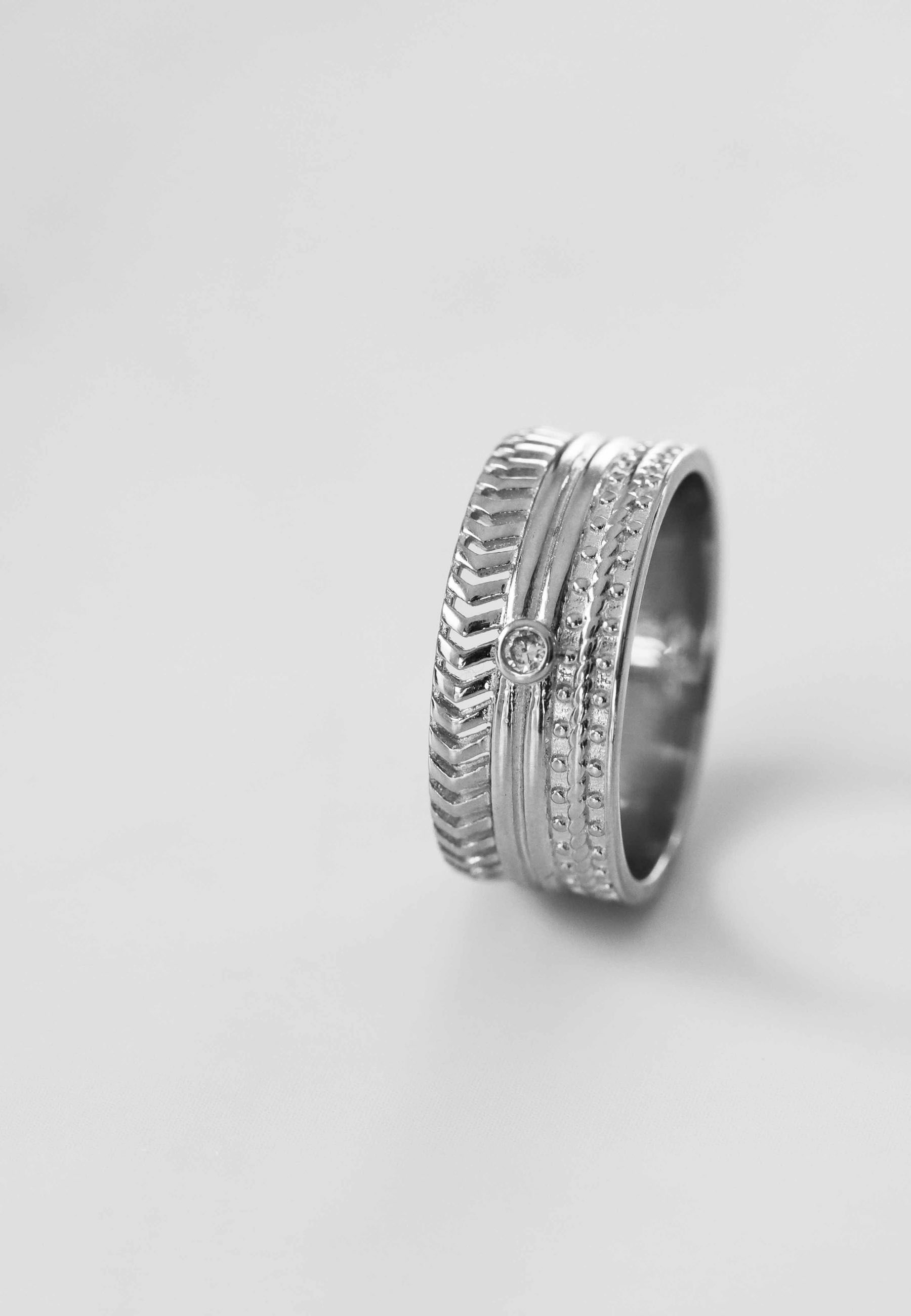 BAROQUE silver ring