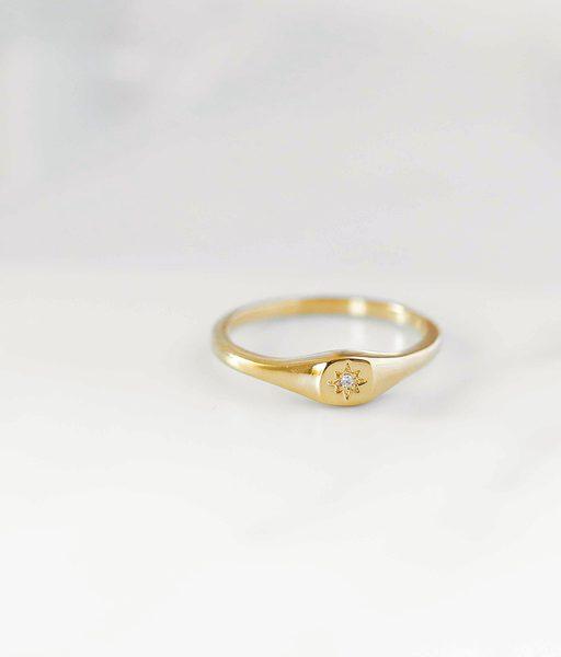 STAMP gold ring