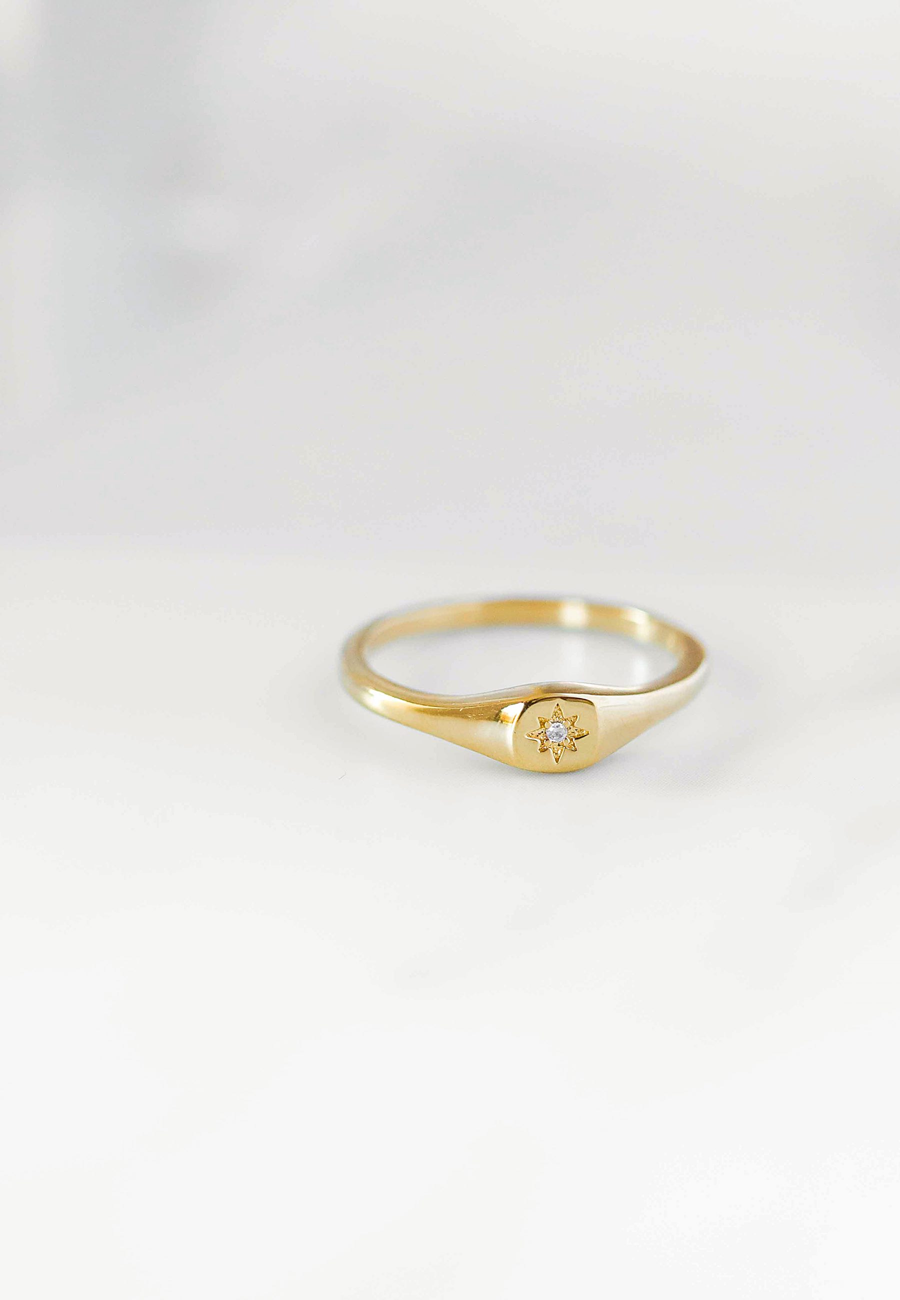 STAMP gold ring