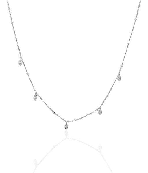 SHORT BILLIONS silver necklace