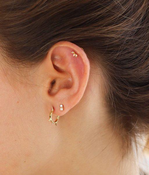 Boucles d'oreilles PINXUS or