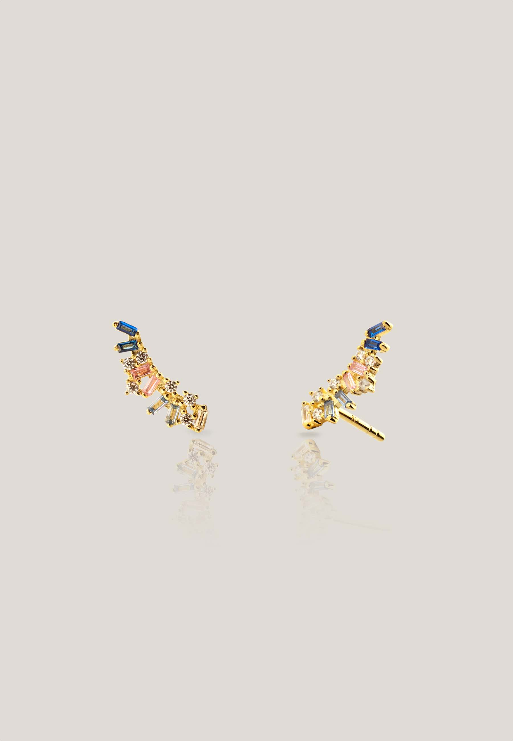 BLUE IRELAND gold earrings