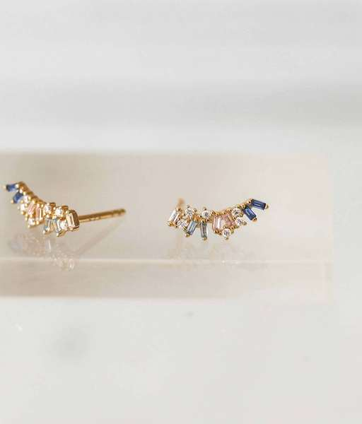 BLUE IRELAND gold earrings