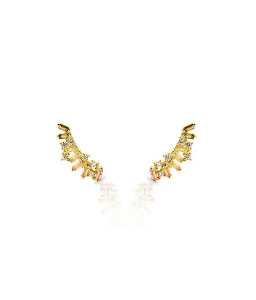 GREEN IRELAND gold earrings
