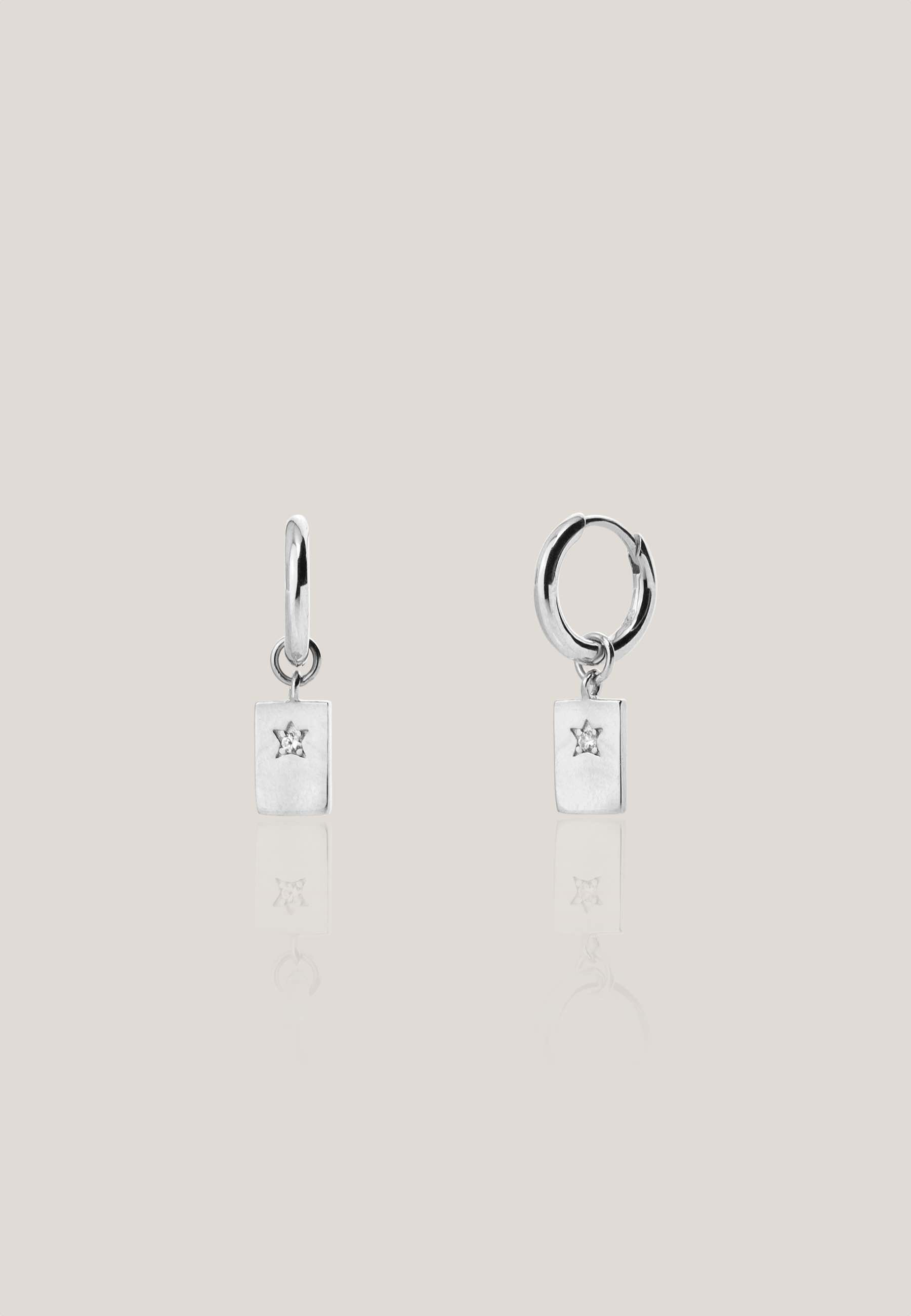 CARD silver earrings