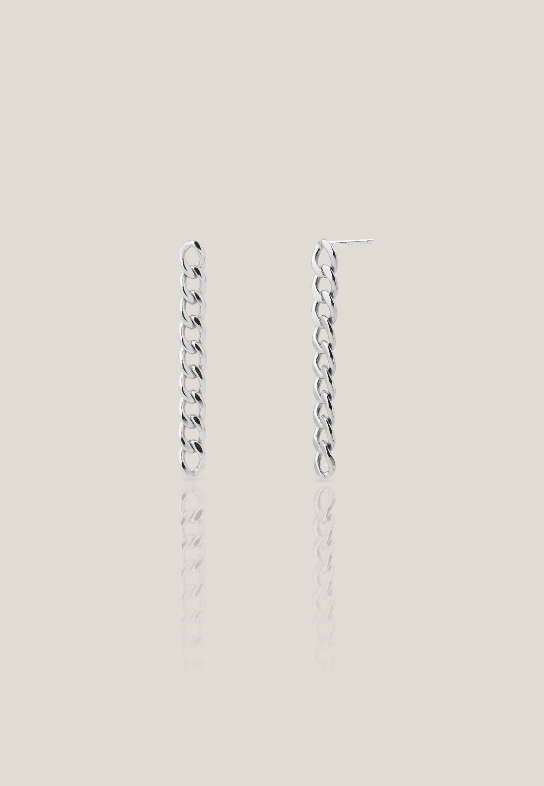 Pendientes eslabon silver02 za