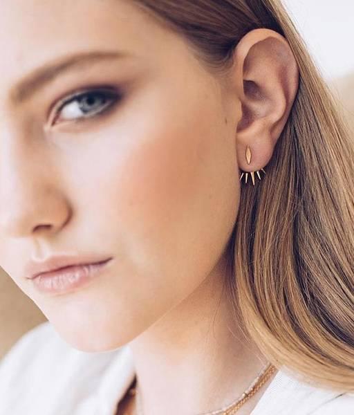EAR JACKET gold earrings