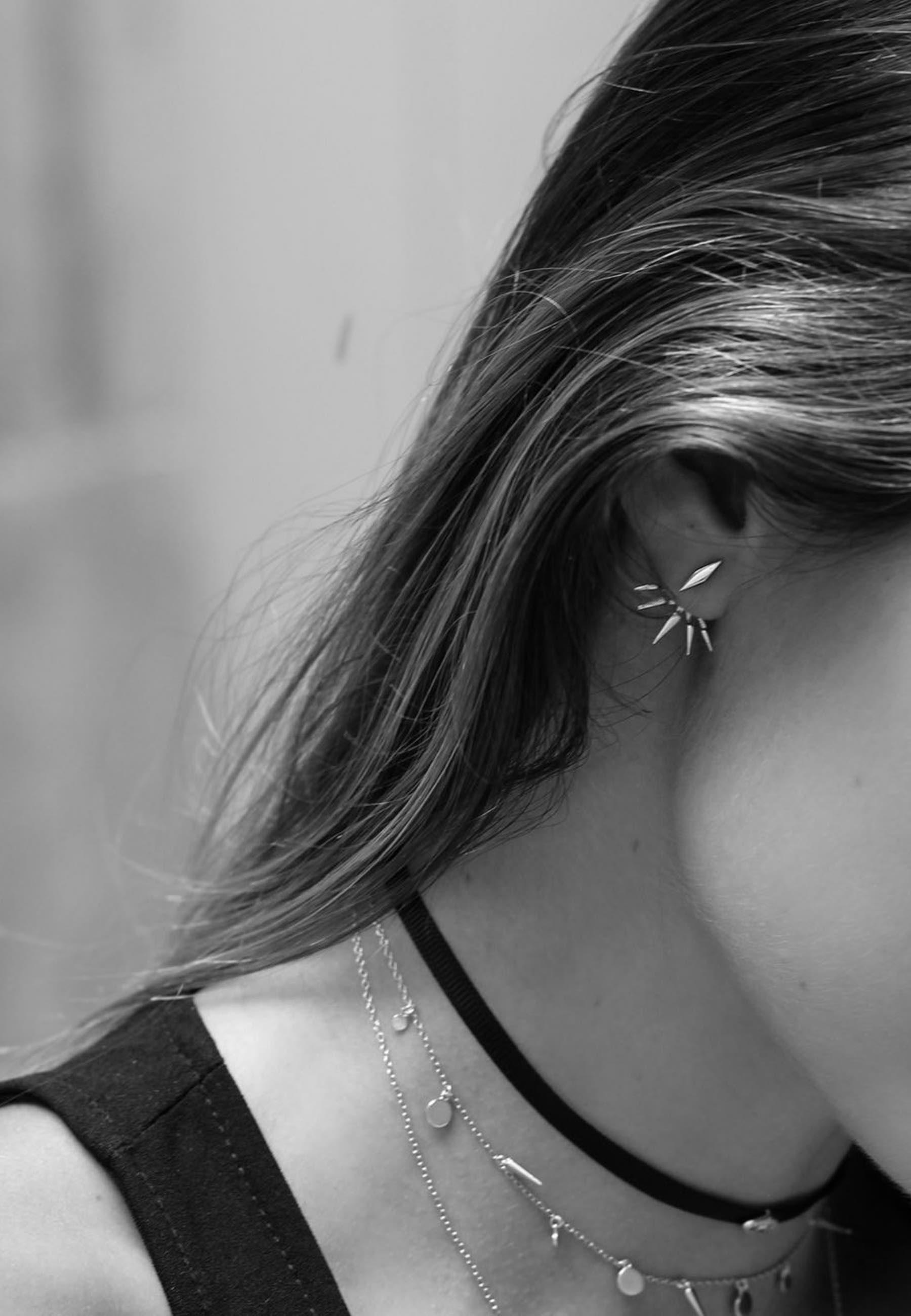 Pendientes earjacket slv4