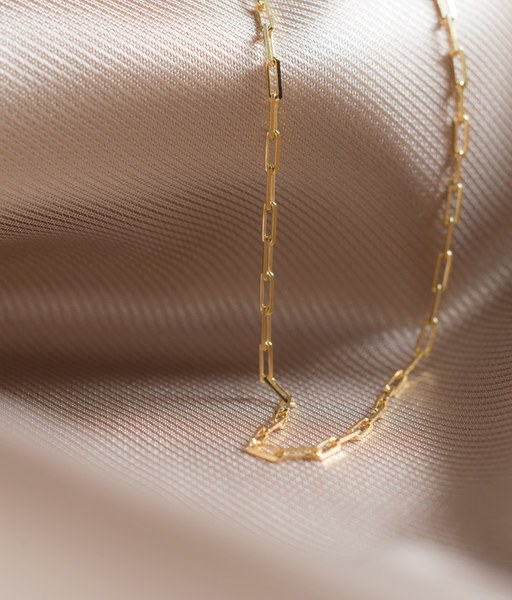 THIN choker gold necklace